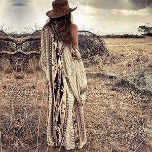 Amangari Aztec Desert Cotton Elegant Kimono Duster